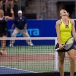 Kveta Peschke reacts to losing a point.
