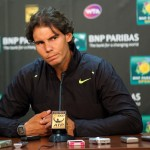 Rafael Nadal at a pre-tournament press conference.