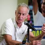 John McEnroe at a press conference