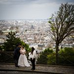 Wedding photography in front of Sacré-Cœur